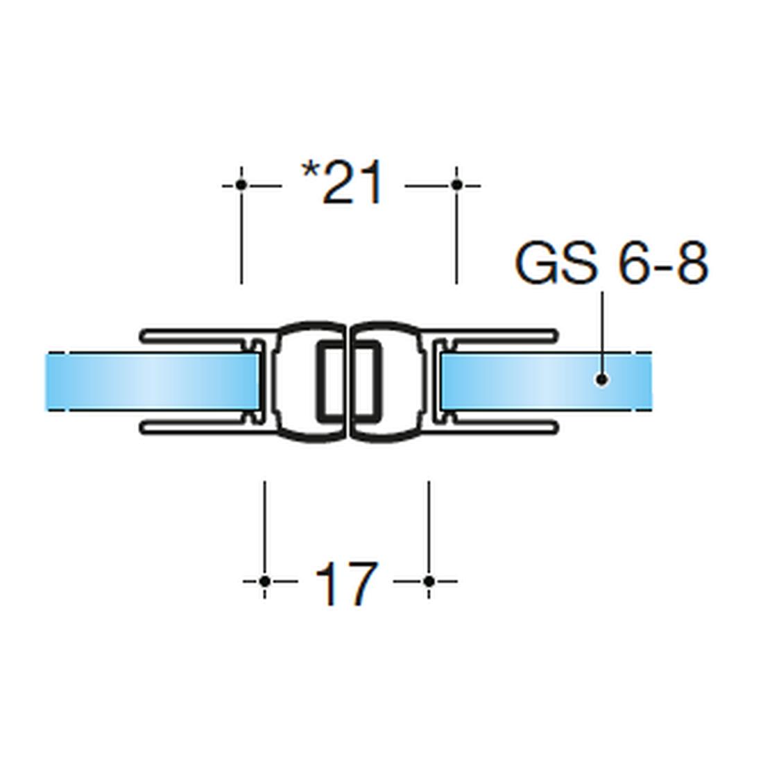 MAGNETDICHTUNG 180° GLAS-GLAS, GLASSTÄRKE 6-8MM