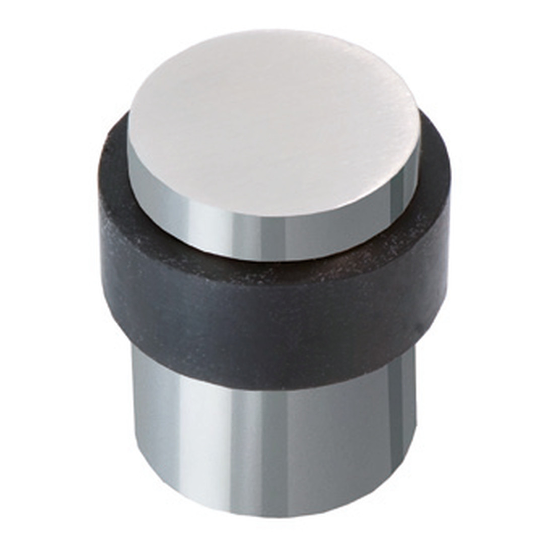 DOOR STOPPER POLISHED CHROME, FOR FLOOR MOUNTING, 29MM, UNIVERSAL SCREW