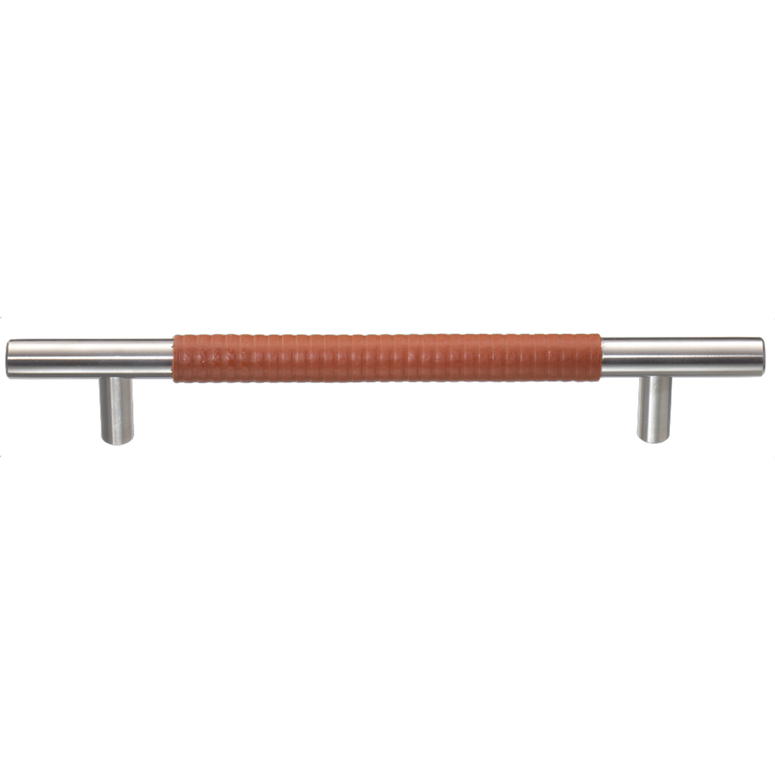 CERES BAR HANDLE ø 12 MM, WITH EMBOSSED LEATHER