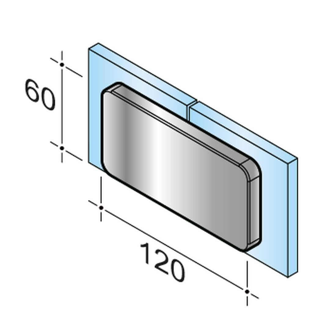SWING PICCOLO 180° - CONNECTOR I GLASS - GLASS, RIGID