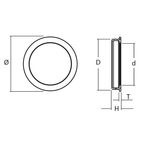FLUSH PULL FOR WOODEN DOORS, POLISHED STAINLESS STEEL