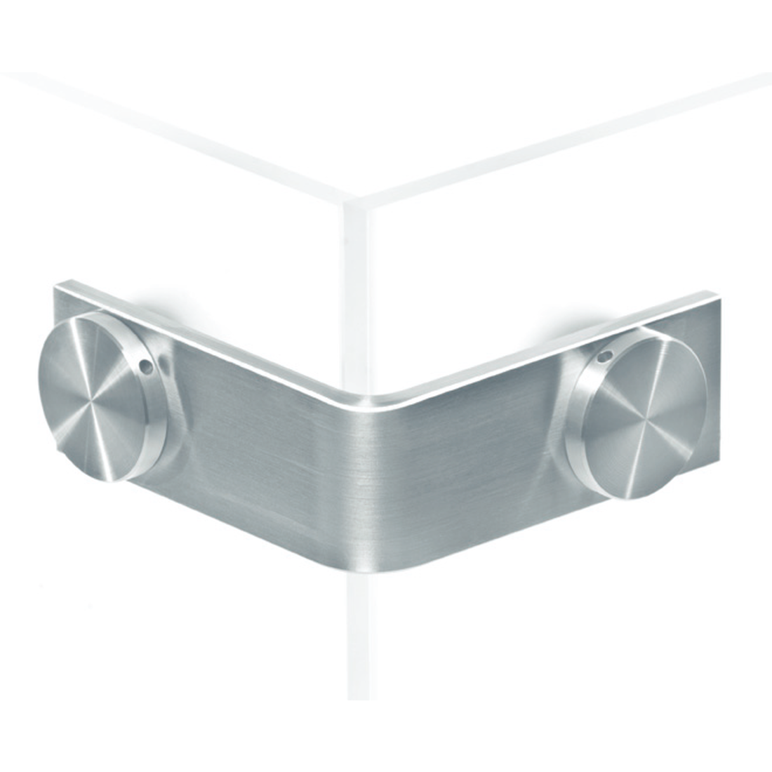 90°-CONNECTOR (OUTER ANGLE), GLASS-GLASS
