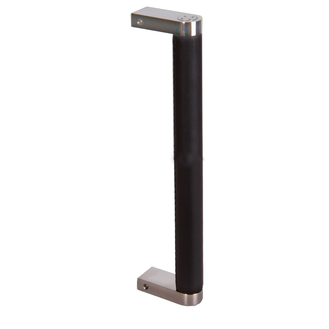 SCI/LEATHER BLACK, POLISHED STAINLESS STEEL, DRILLING DISTANCE 300MM, SINGLE HANDLE