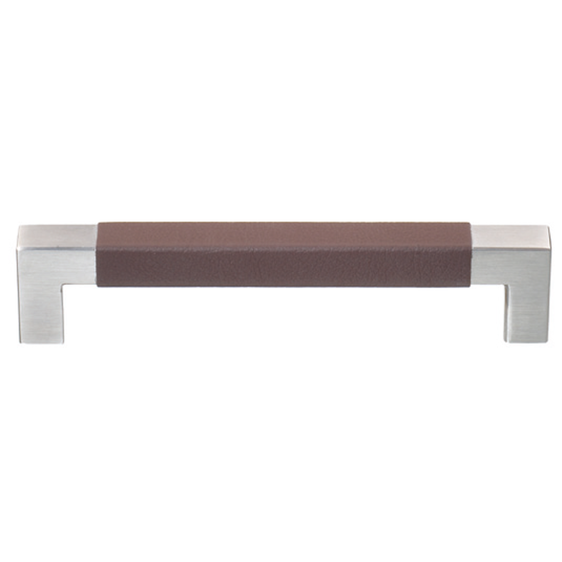 CALUS HANDLE 12X12MM, WITH PLAIN LEATHER, COCOA