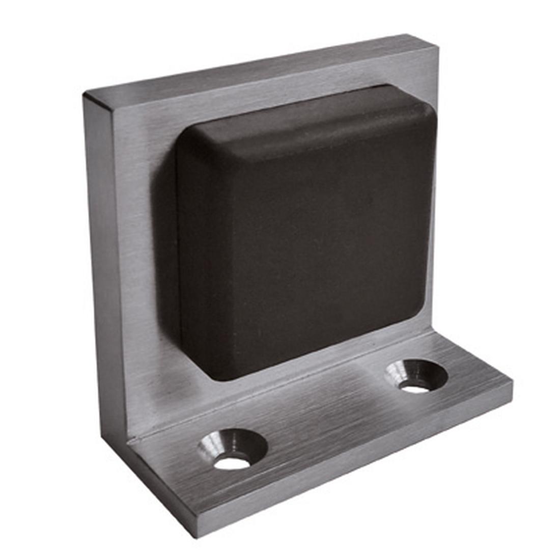 DOOR STOPPER FOR  FLOOR MOUNTING, [/] 60/60MM, 2 X SCREWS AND DOWELS