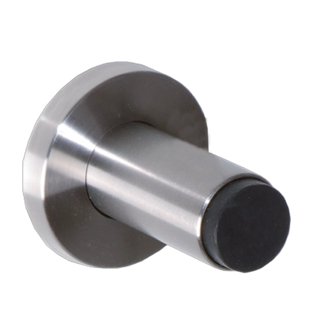 DOOR STOPPER FOR WALL MOUNTING, ø 22MM, L:65MM, MOUNTING PLATE
