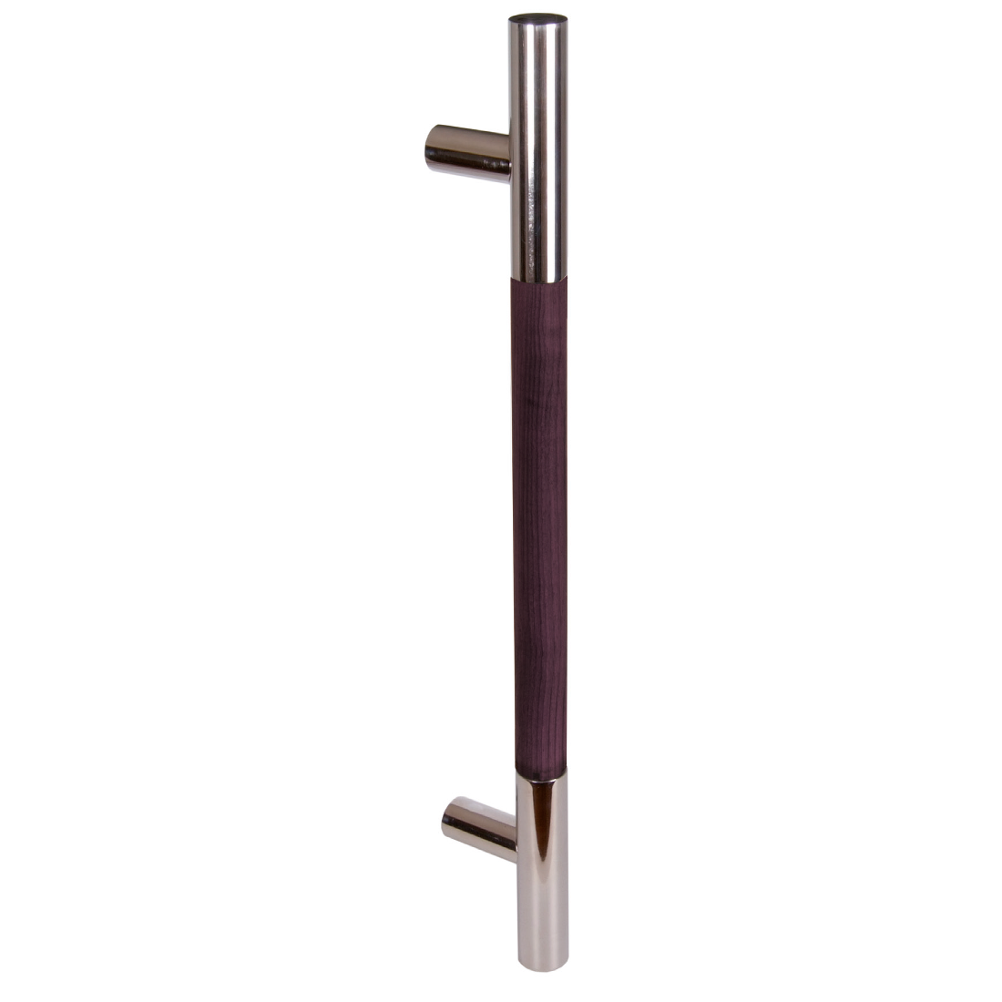 IMPERO WOOD/POLISHED STAINLESS STEEL, WENGE, DRILLING DISTANCE 400MM, SINGLE HANDLE