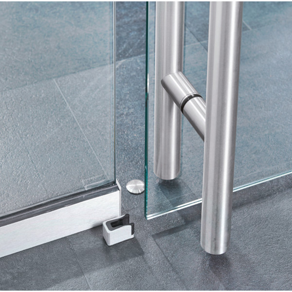 STOPPER FOR SLIDING GLASS DOORS WITH POSITIONING FOR LLP