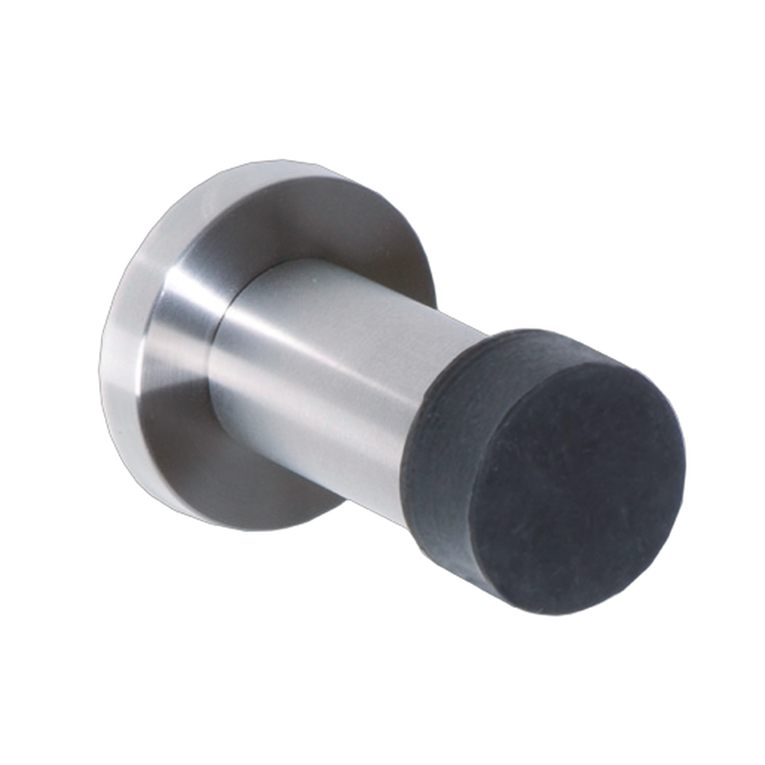 DOOR STOPPER, FOR WALL MOUNTING, ø 22/30MM, MOUNTING PLATE