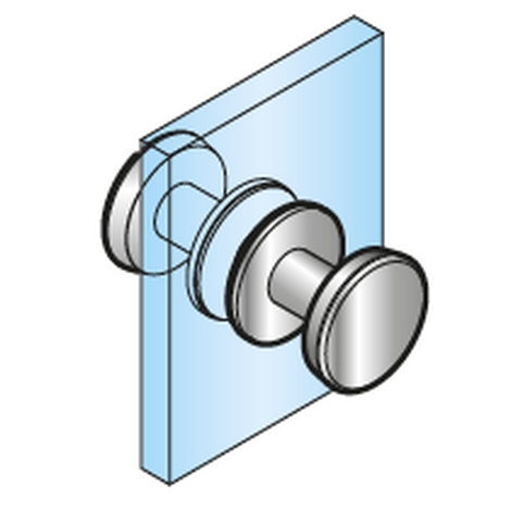DOOR KNOB CEUS, POLISHED STAINLESS STEEL