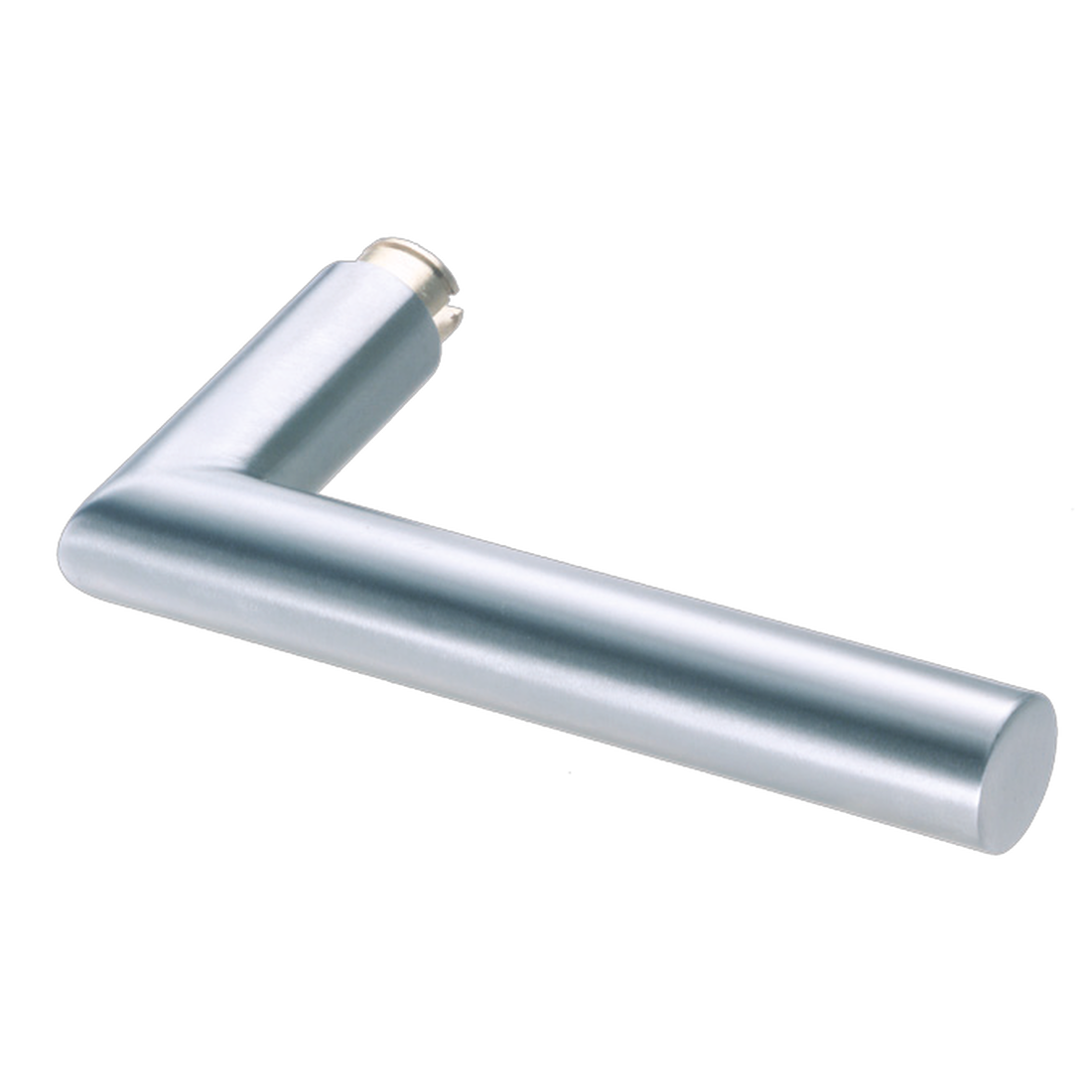 JAZZ LEVER HANDLE SETS, L-FORM ANGLED, SATIN STAINLESS STEEL