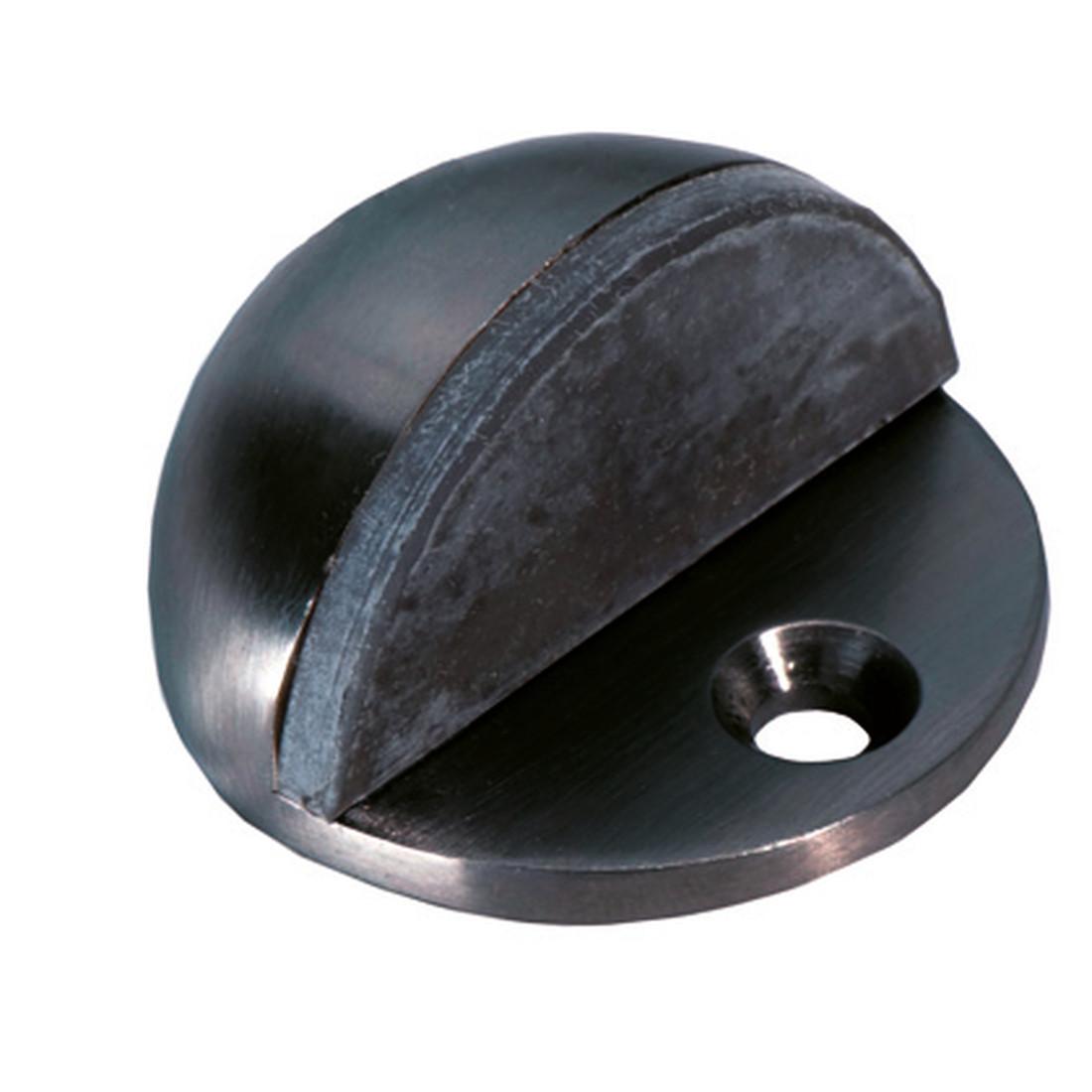 DOOR STOPPER BLACK, FOR FLOOR MOUNTING, ø 45MM, UNIVERSAL SCREW