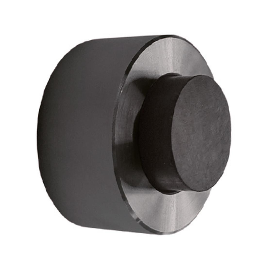 DOOR STOPPER BLACK, ROUND, HANGER BOLT