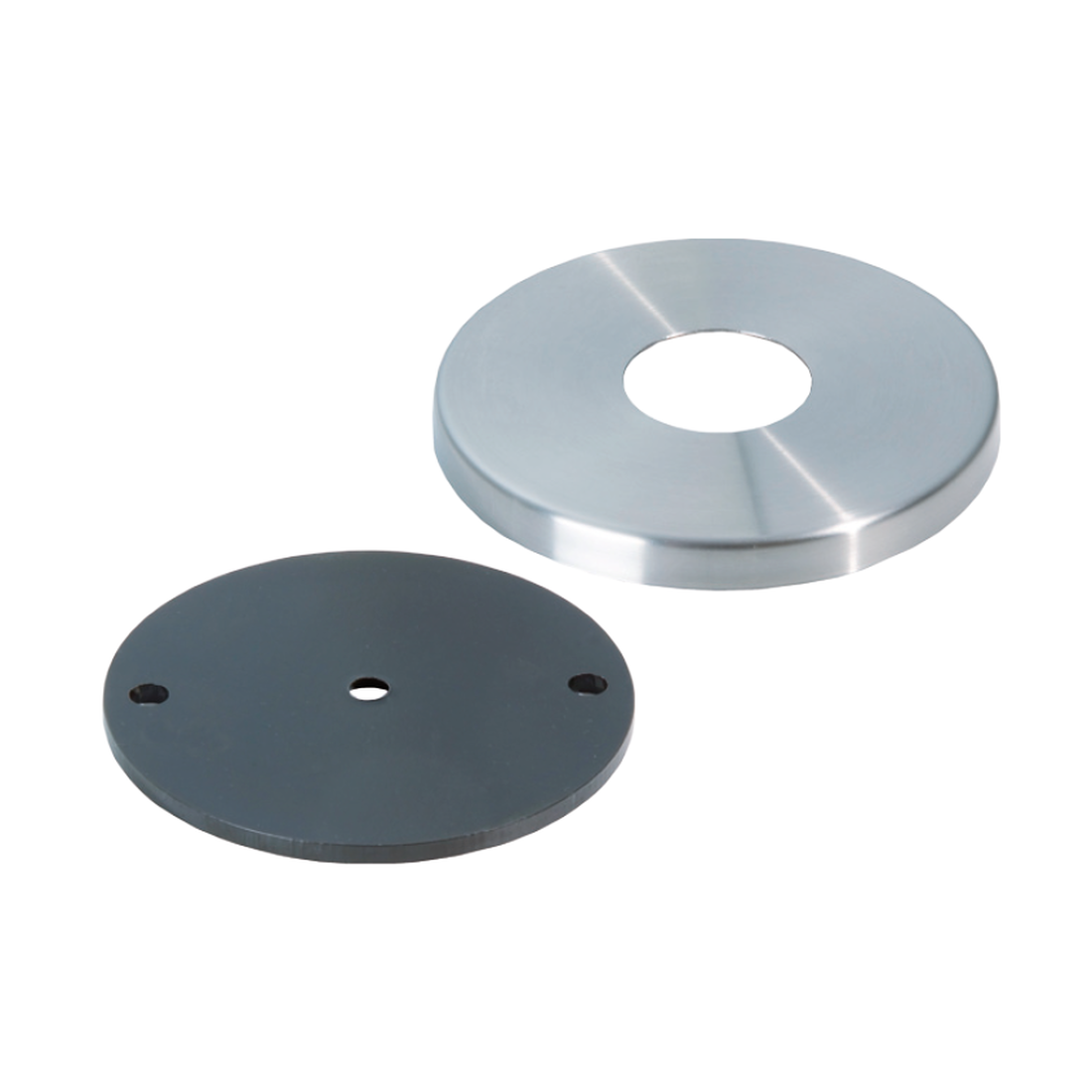 BOTTOM PLATE WITH COVER PLATE, d (TUBE) Ø 40MM