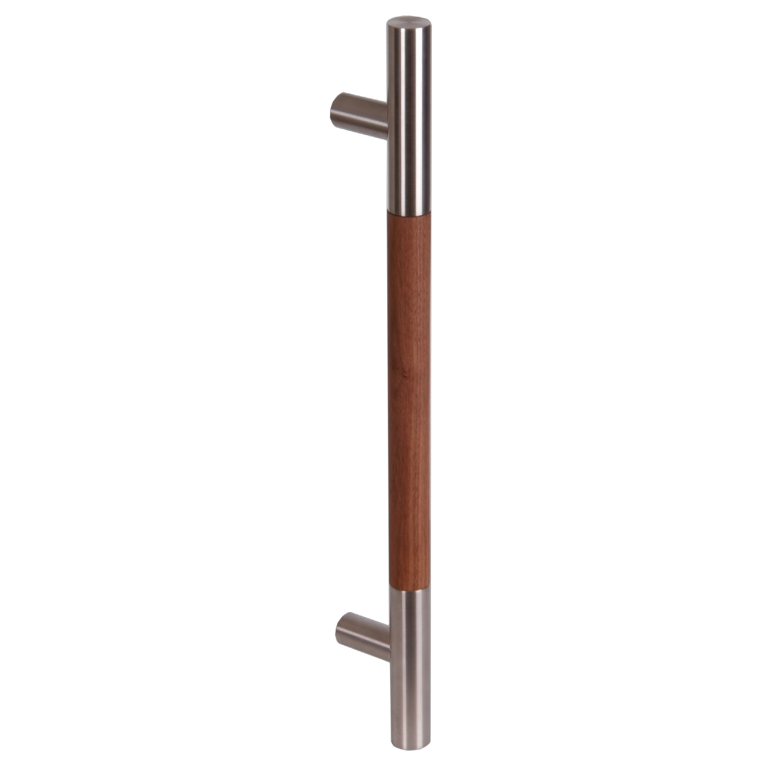 IMPERO WOOD/POLISHED STAINLESS STEEL, TEAK, DRILLING DISTANCE 400MM, SINGLE HANDLE