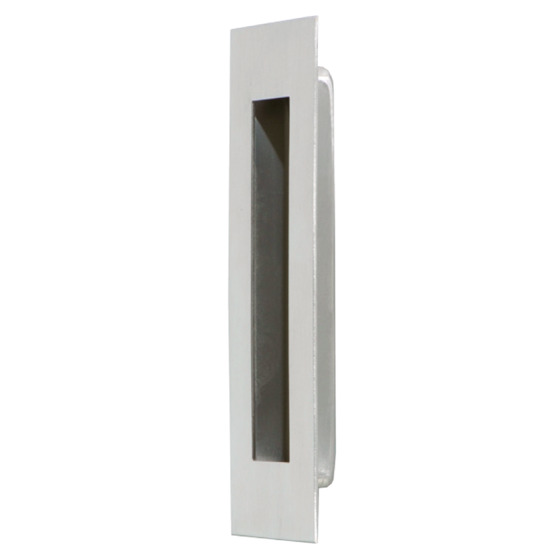"FLUSH PULL, SATIN STAINLESS STEEL, 5 29/32"" x 1 31/32"""