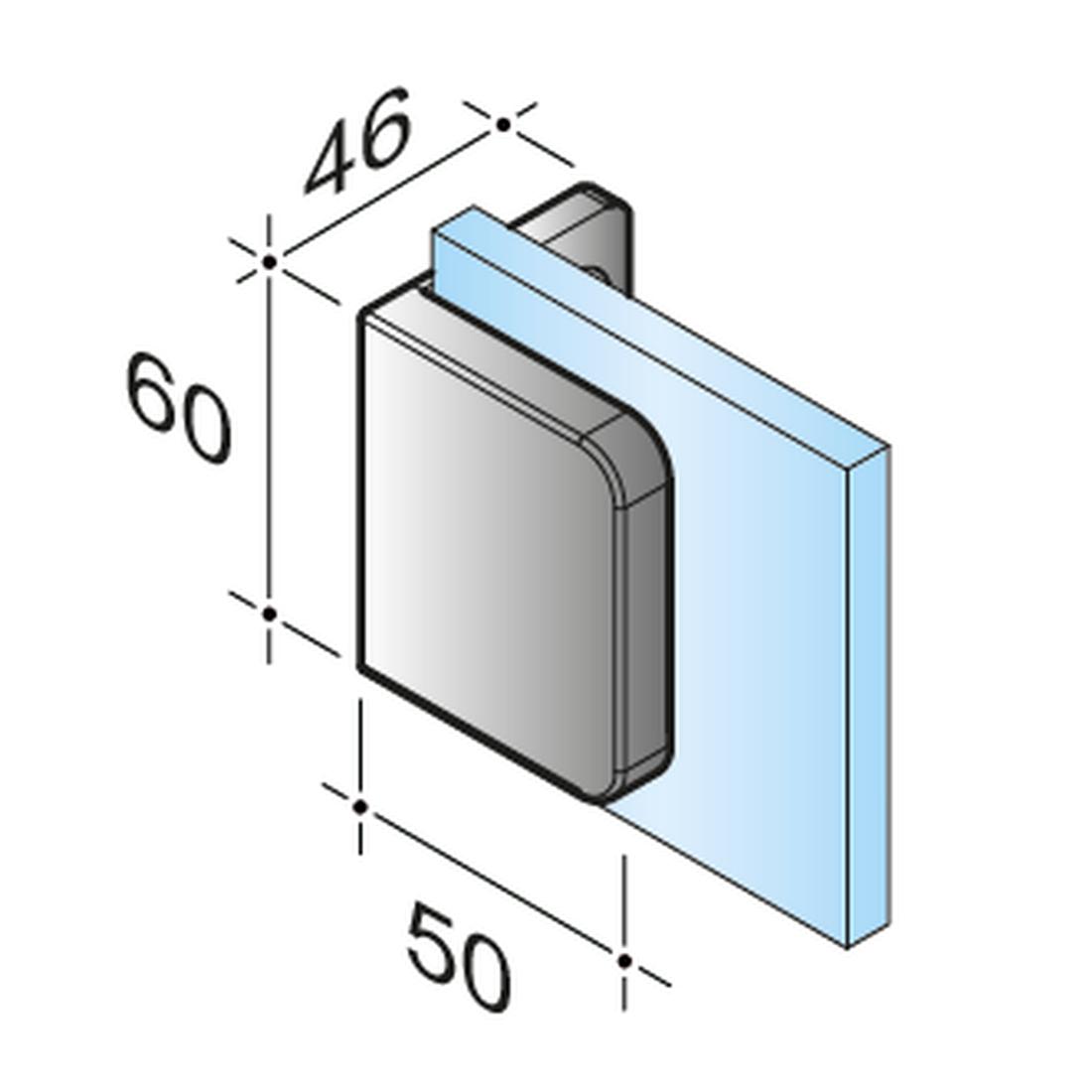 SWING PICCOLO 90° - CONNECTOR I GLASS - WALL, RIGID